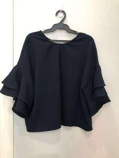 Zara Navy Blue Top