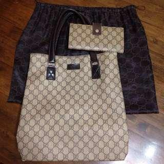⛔️Super Sale‼️Authentic Gucci bag and wallet bundle