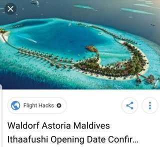 Waldorf Astoria Maldives Ithaafushi, Hotel stay. 5 nights, S$5000