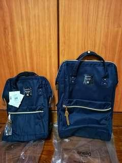 BN Anello Canvas Backpack Navy Blue (Mini & Large)