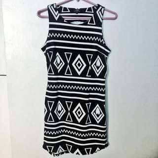 Black Aztec Print Dress
