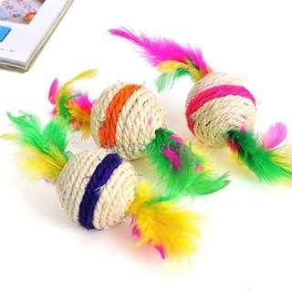 [Ready Stock] CT054 Cat Toys - Sisal Ball