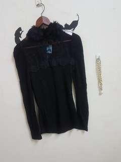 🚚 全新均碼蕾絲長袖合身上衣