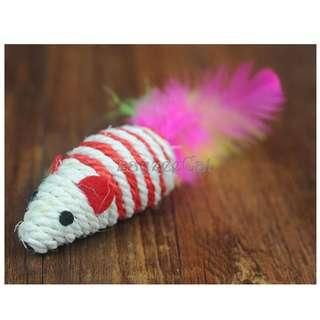 [Ready Stock] CT055 Cat Toys - Sisal Mouse