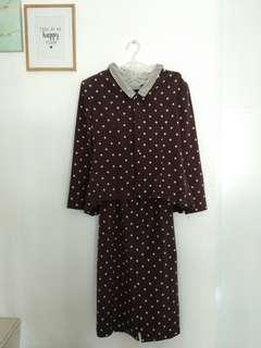 Polka Dress Brown