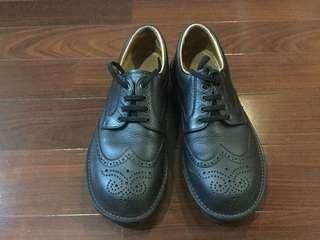 Black Leather Wingtip Shoe