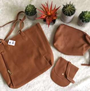 🔥Reserved to Mr. John🔥 SM Bag 3-in-1 (Tan)