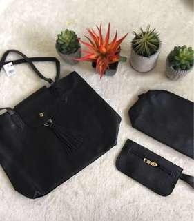 🔥Reserved to Mr. John🔥 SM Bag 3-in-1 (black with tassel)