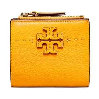 Brand New Authentic Tory Burch Mini Wallet in Cute Mustard Yellow