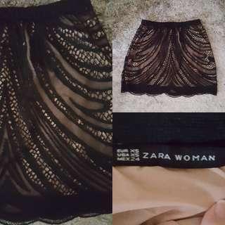 (NEW) Zara Lace Skirt // Rok Wanita