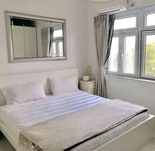 Ikea malm king bed and Hovag spring mattress