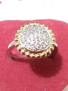 星光925 銀 閃司華洛水晶 戒指~特價