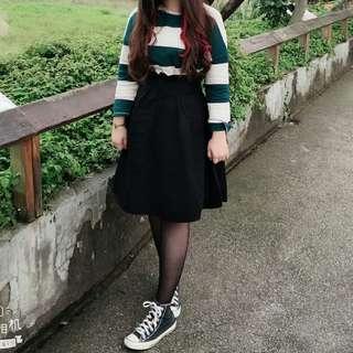挺版花苞傘裙及膝裙