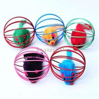 [Ready Stock] CT059 Cat Toys - Caged Mouse