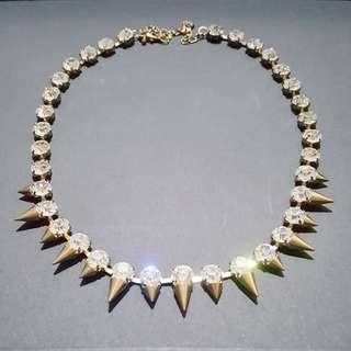 (NEW) Crystals with Studs Necklace // Kalung Wanita
