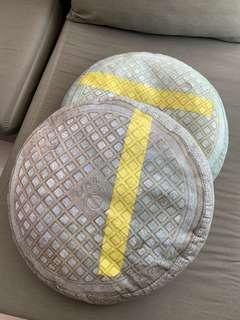 IKEA Fuffens round cushion