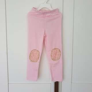 🚚 [Size 100 For Age 3-4 / Older] Girls' / Kids' / Children's Pink Colour Cotton Leggings Tights