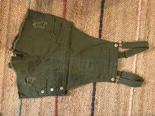 forever 21 army jumpsuit