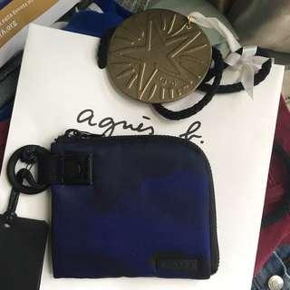 Agnes b sport blue cardholder / wallet