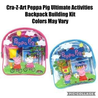 *Brand New* Cra-Z-Art Peppa Pig Ultimate Activities Backpack Building Kit, Colors May Vary Educational Tools for Homeschooling (Great for Birthday, Christmas, Holiday Traveling Busy Activities ) Tot / Home Kids School / Goodies Bag