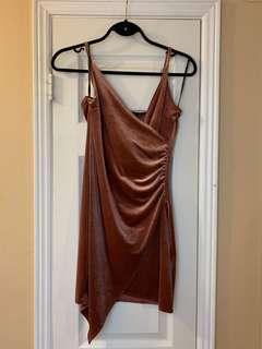 Blush velvet dress - brand new!