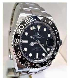 Rolex 116710LN GMT II Ceramic Bezel Year 2012 with Certificate