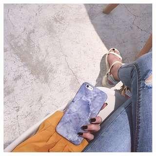 《全新》i7/8 冰藍色大理石手機殼 4.7吋