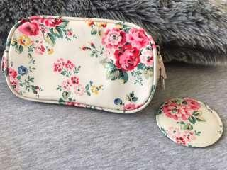 Cath Kidston Makeup Pouch with mirror. Kept unused