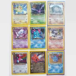 Pokemon Cards Neo Destiny collection