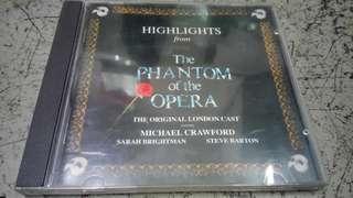 The phantom of the opera 歌聲魅影舞台劇原聲碟 CD