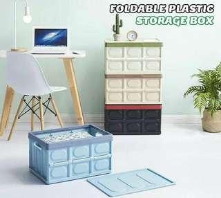 FOLDABLE PLASTIC STORAGE BOX