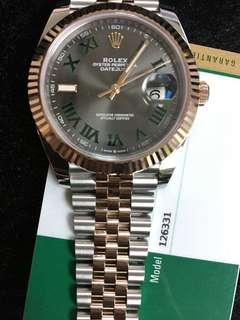 Rolex 126331 slate rom 灰面綠羅
