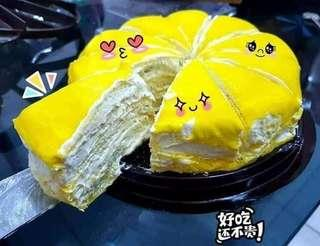 D24 Preorder Durian Flavour Crepe Cake 500g