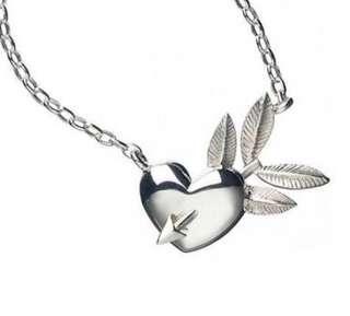 Karen Walker sterling silver heart and arrow necklace pendant $299