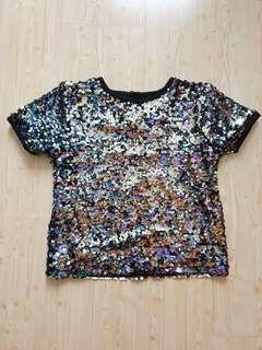 Sequin shirt blouse girls girl top