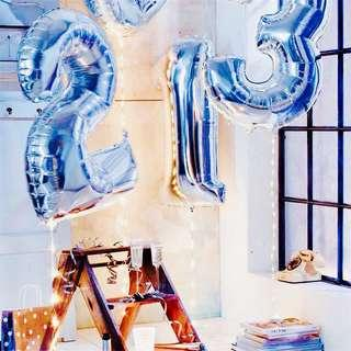 🚚 Alphabets Number Foil Balloons Party Event Decor