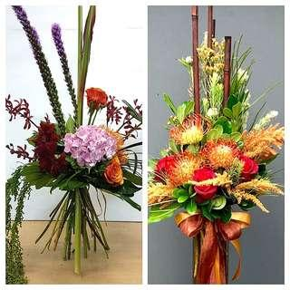 Vertical bouquet - fresh flowers