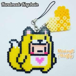 Handmade Minicraft Woffy Keychain #APR10