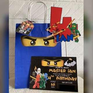 Customized / Personalized Party supplies - Ninjago