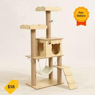 *INSTOCK* Cat Condo Cat Tree Pine Wood Cat House Playground for cats and kittens adoption cat furniture scratcher post no cage, carrier, capsule, tent, canopy, cat litter box cat toy