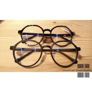 Ulzzang Glasses Spectacles Frame in Black Colour