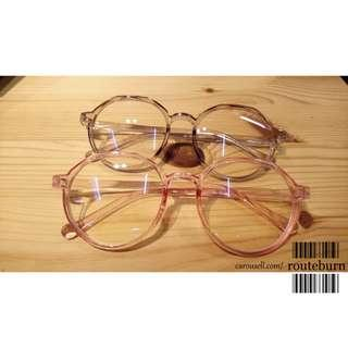 Ulzzang Glasses Spectacles Frame in Pink or Grey Colour