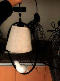 Hanging dove Lamp with light
