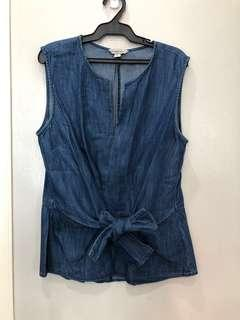 Calvin Klein Sleeveless Denim Top
