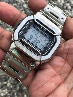 🚚 The latest IN thing in the G-Shock world , metal g-shock , metal gshock , metal dw5600 , metal dw-5600 , CUSTOM metal square , silver metal g-shock , Casio , CASIO , Casio