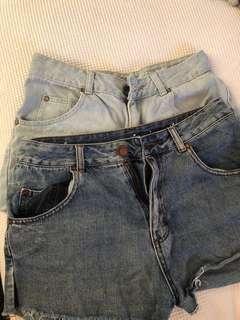 2x Cotton on shorts