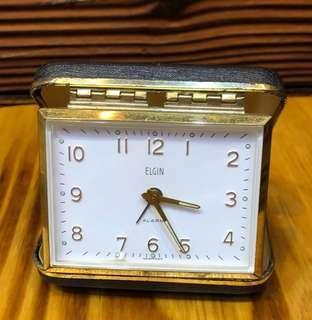 Elgin 上鏈旅行鐘 鬧鐘 座枱鐘  德國制