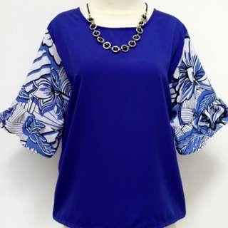 💁Blue flower top