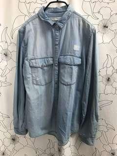 🚚 Zara girls 藍色襯衫上衣 西班牙購入