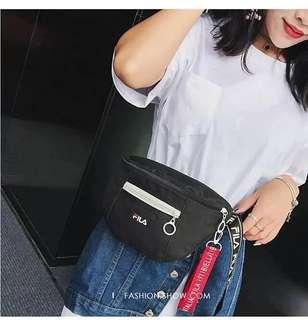 😍available😍Fila Belt Bag Black (design 1)